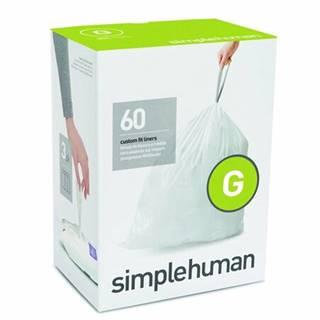 Vrecia do odpadkového koša 30 L, Simplehuman typ G zaťahovacie, 3 x 20 ks (60 vriec)