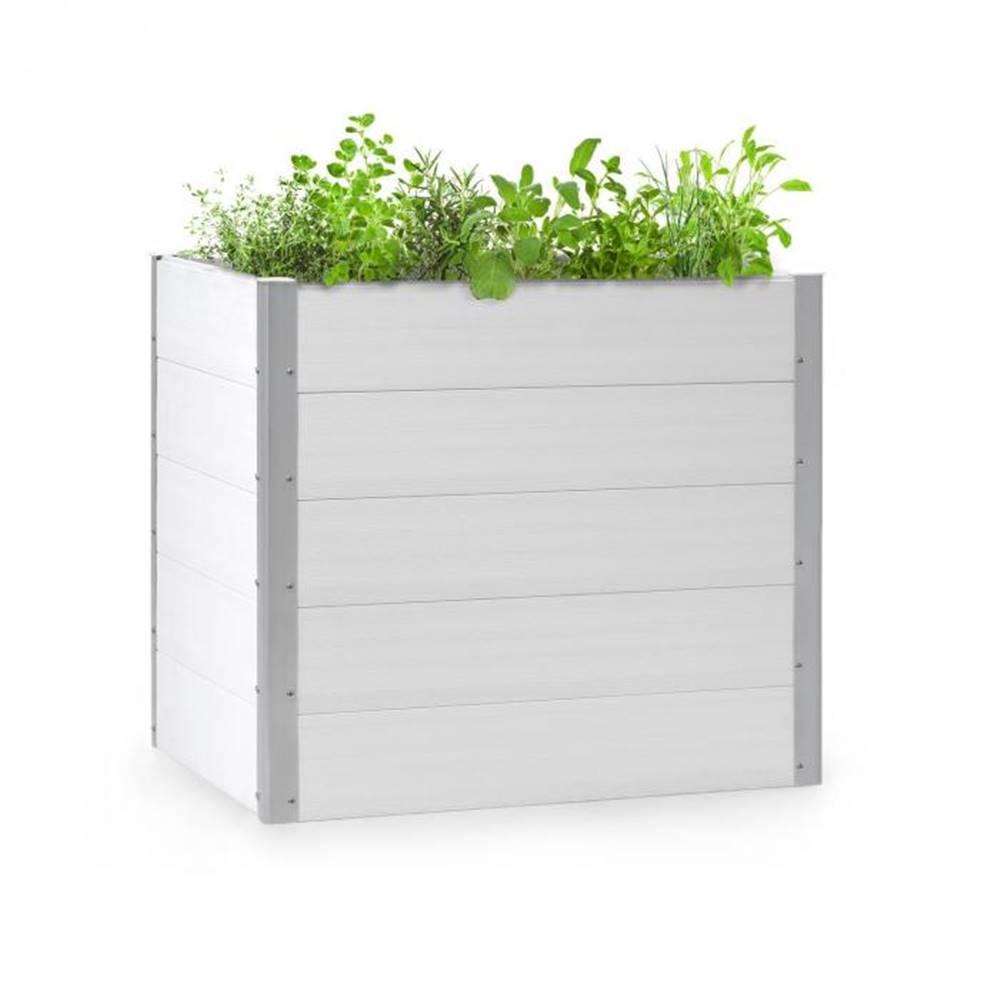 Blumfeldt Blumfeldt Nova Grow, záhradný záhon, 100 x 91 x 100 cm, WPC, drevený vzhľad, biely